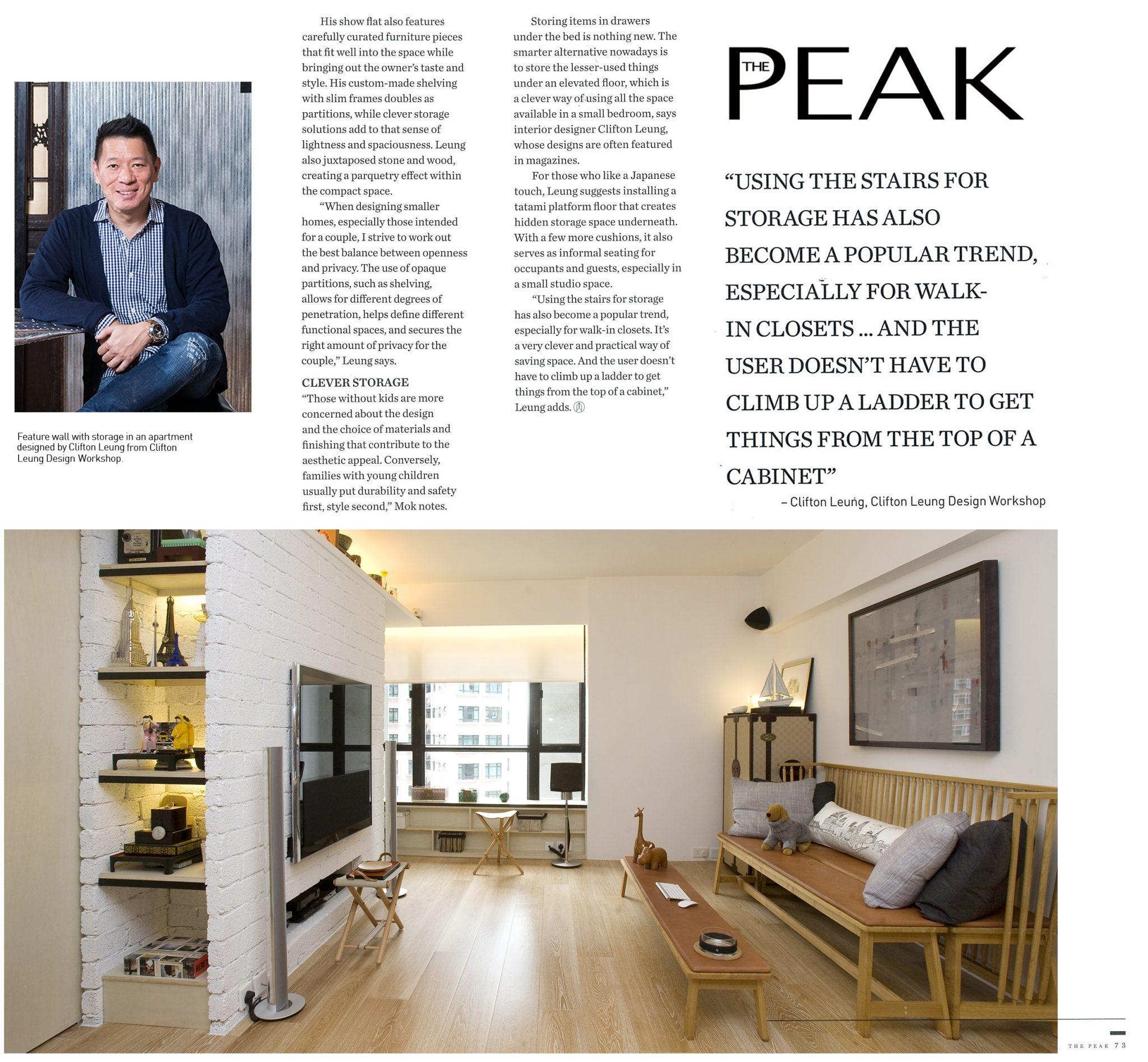 Clever Storage | PEAK Magazine | Jul 2015
