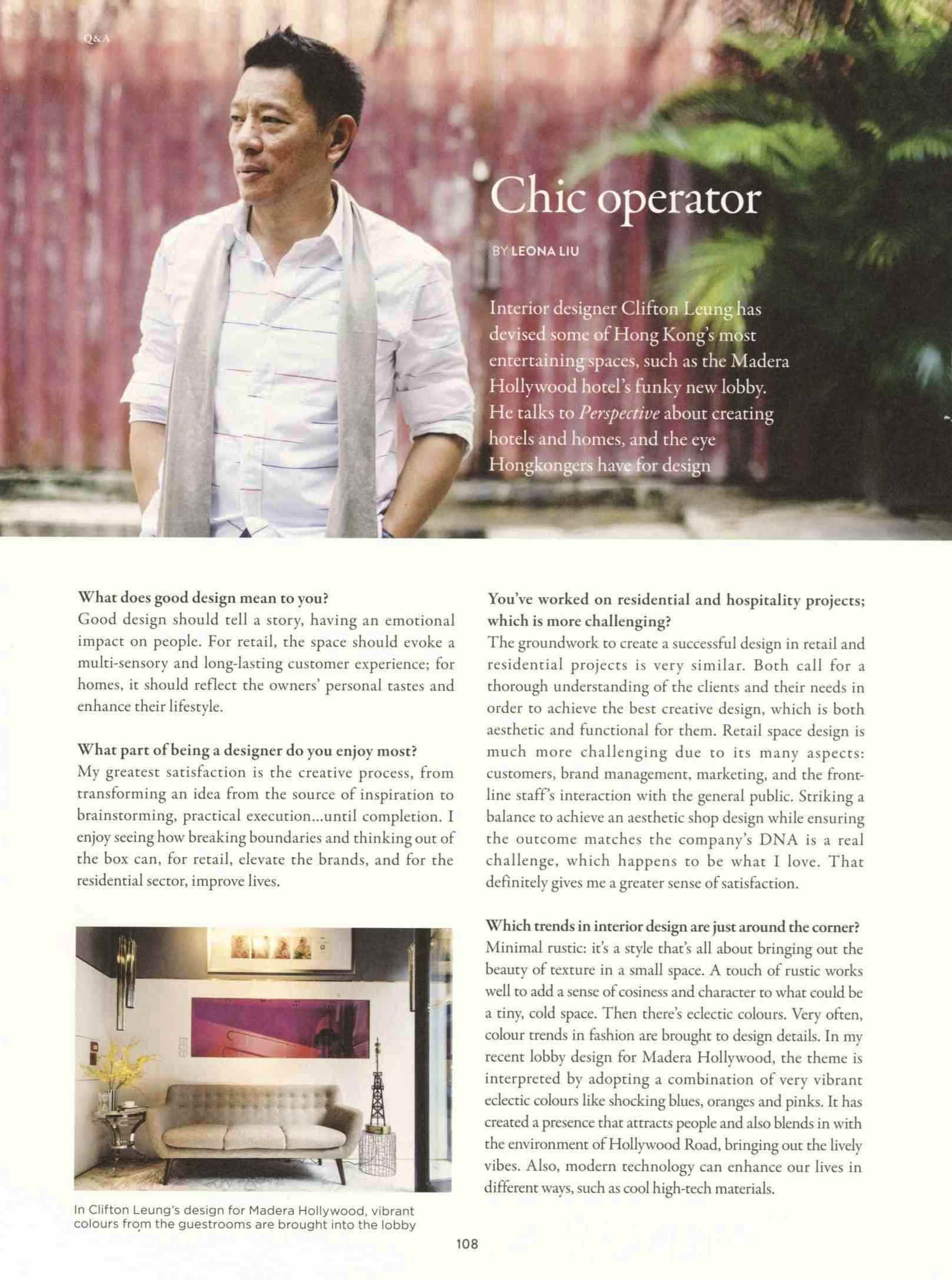 Chic Operator  | Perspective | Nov 2017