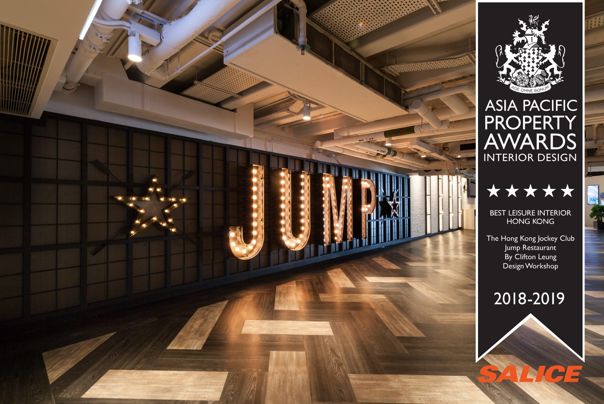 The Hong Kong Jockey Club Jump Restaurant – Best Leisure Interior Hong Kong, Asia Pacific Property Awards 2018/19