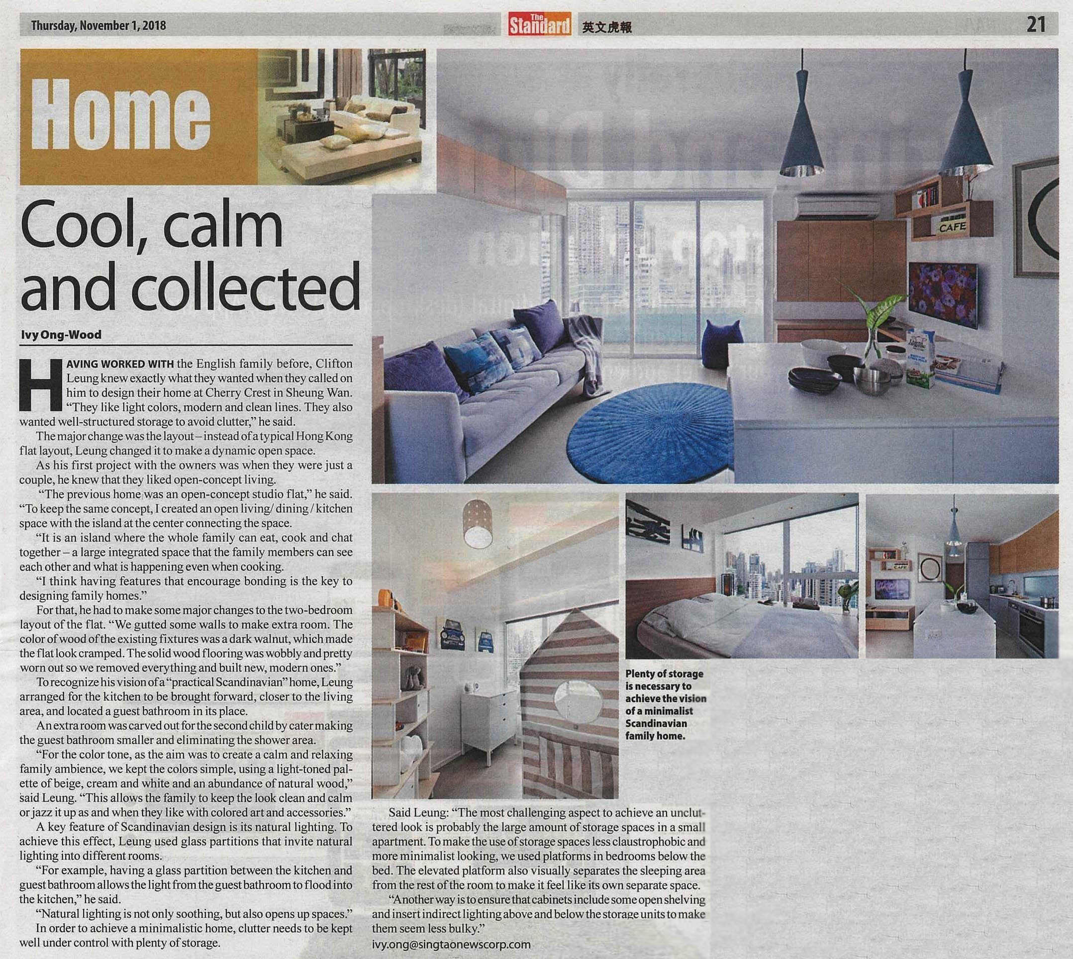 Scandinavian Apartment | The Standard | Nov 2018