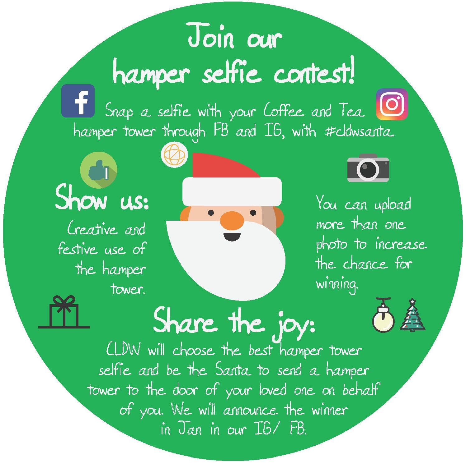 Join our hamper selfie contest and spread the joy to your loved ones!