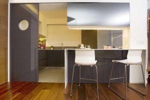 Modern Interior Design HK-Robinson Place-Semi Open Kitchen