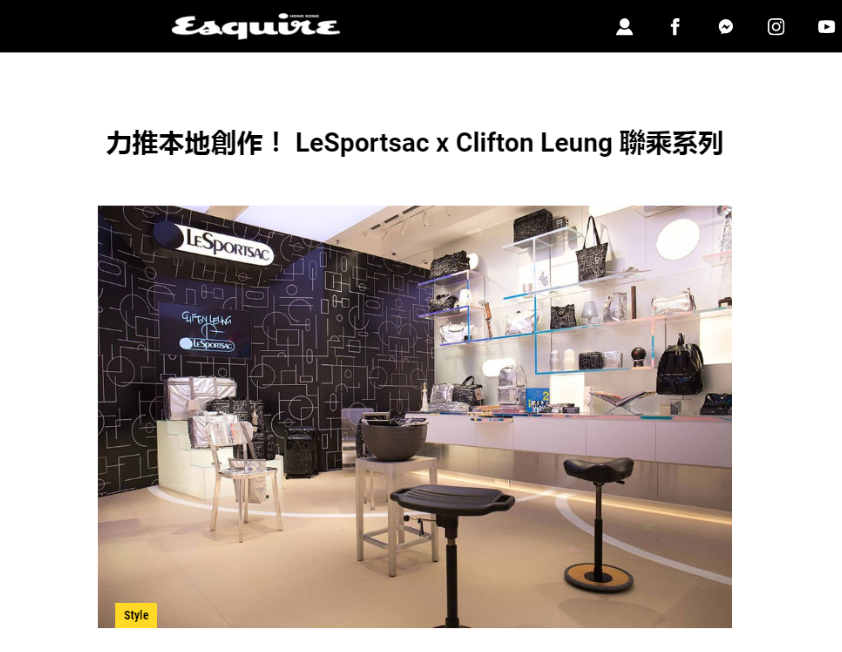 Clifton Leung X LeSportsac | Esquire | March 2019
